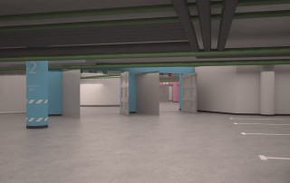 Дизайн системы навигации подземной парковки ТЦ «Неглинная галерея» в Москве
