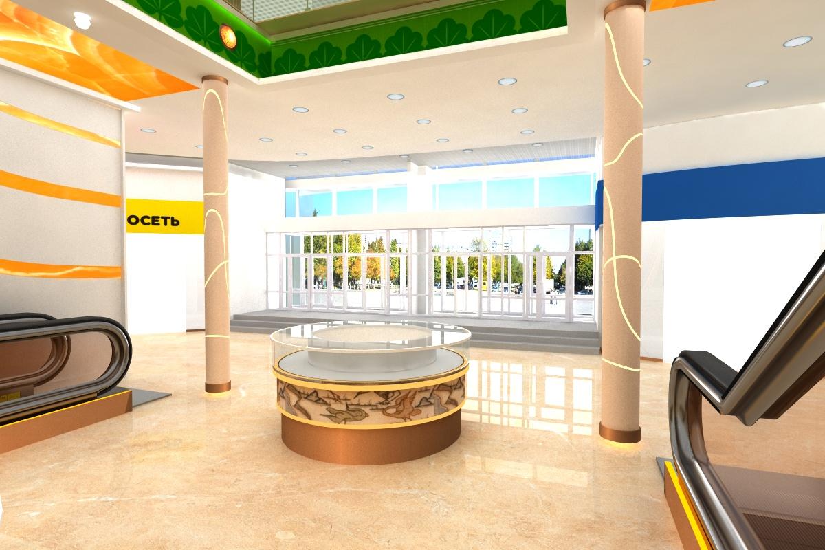 Дизайн интерьера торгово-развлекательного центра «Морошка», г. Воркута