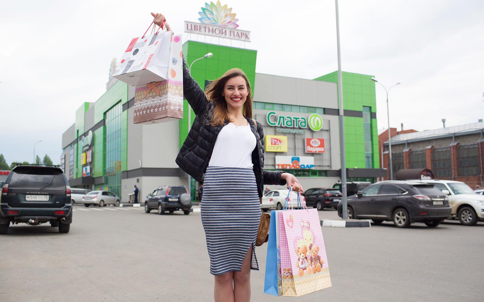 Открытие торгового центра «Цветной парк», в Иркутске