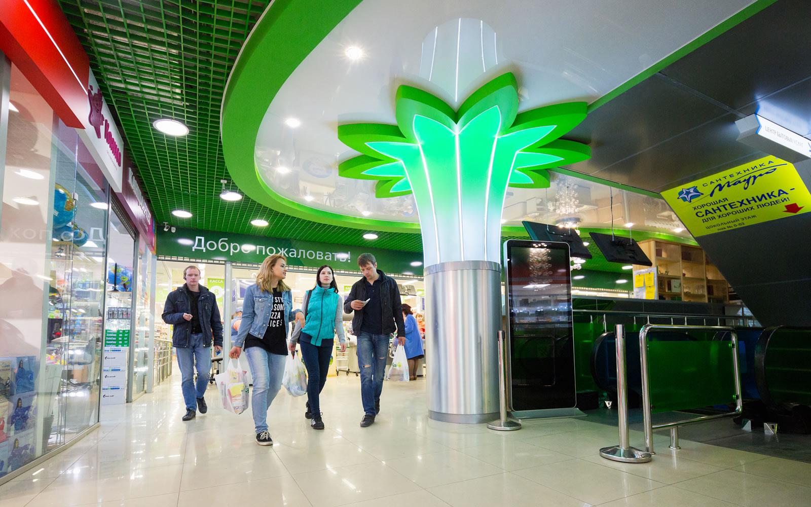 Дизайн интерьера торгового центра «Цветной парк»
