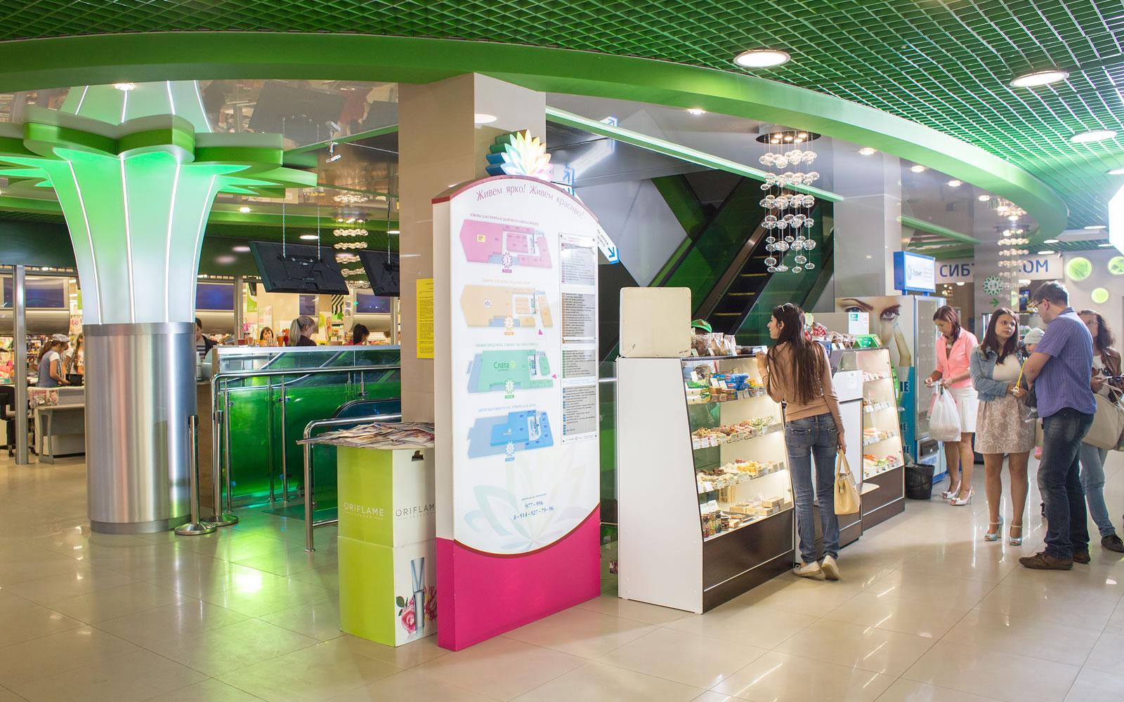 Путеводитель торгового центра «Цветной парк», расположенный на первом этаже