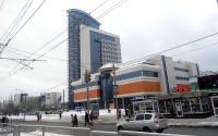 Фасад ТОЦ «Гулливер-Парк» в Барнауле