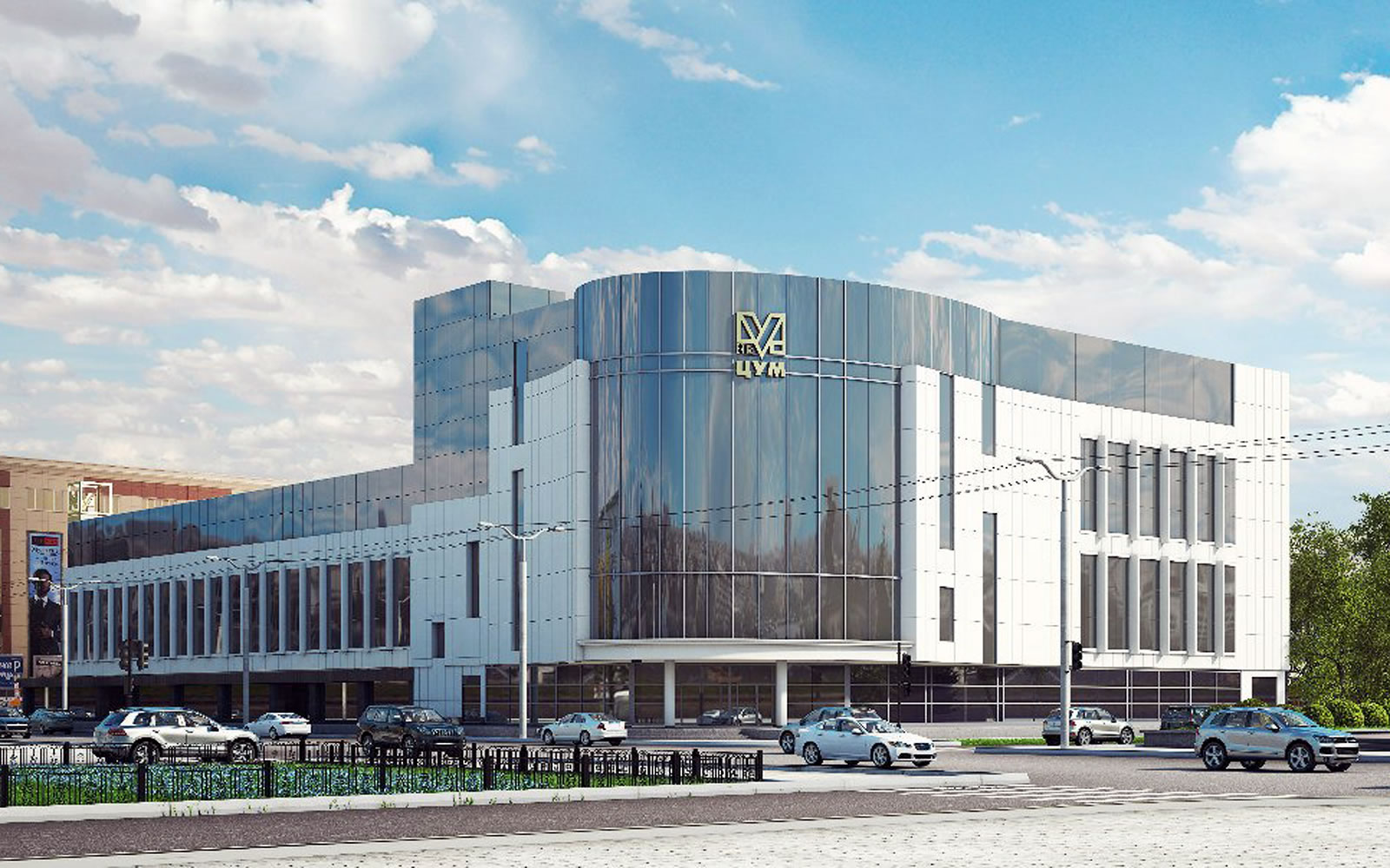 Визуализация фасада ТЦ «Вятка-ЦУМ» в Кирове
