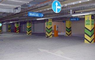 Дизайн системы навигации парковки торгово-офисного центра «Гулливер парк»