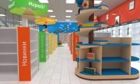 В ходе дизайн-проекта книжного магазина «Книголюбов» осуществлены работы по неймингу сети магазинов, брендингу, дизайну внутреннего фасада, дизайну интерьера магазина, дизайну освещения торгового зала, дизайну системы навигации.