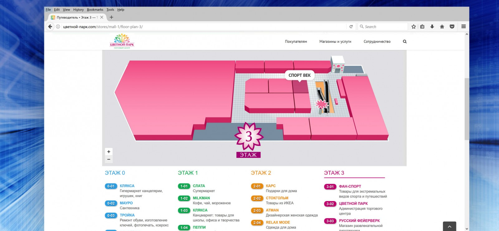 Дизайн специализированных сайтов для торговых центров и магазинов