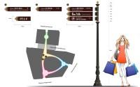 Дизайн столба-указателя с навигационными табличками в виде стрелок