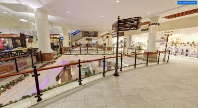 Навигационные знаки на втором этаже торгового центра