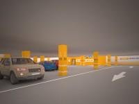 Система ориентирования и навигации на подземной парковке ТРЦ «Европа»