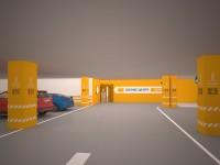 Дизайн навигации на входе в бизнес-центр «Лондон»