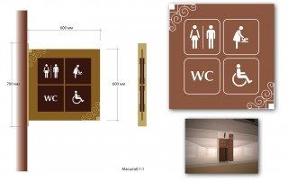 Дизайн навигационных указателей для санузлов