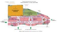 Схема зонирования первого этажа ТРЦ с кинотеатром