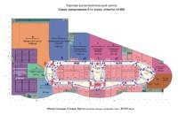 Схема зонирования второго этажа ТРЦ с кинотеатром
