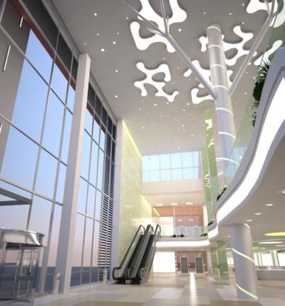 Дизайн-проект торгово-развлекательного центра «Лотос Plaza» в Петрозаводске