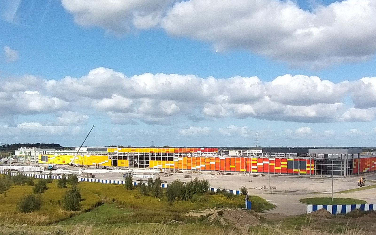 строительство многофункционального центра «Балтия молл» в Калининграде