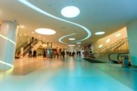 В торговом центре «Лотос Plaza» дизайнерскими средствами создана среда, воздействующая на покупателей и стимулирующая покупки.