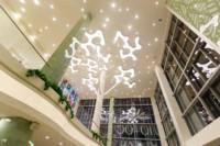В интерьере торгово-развлекательного комплекса «Лотос Plaza» реализованы смелые дизайнерские решения.